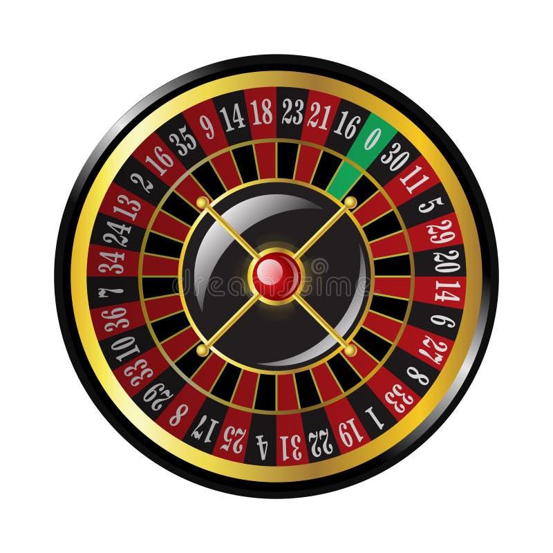 赌博娱乐场轮盘赌-现代传染媒介隔绝了剪贴美术 向量例证
