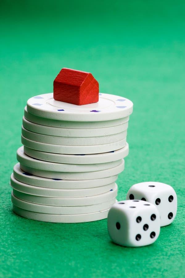 赌博实际风险 免版税库存照片