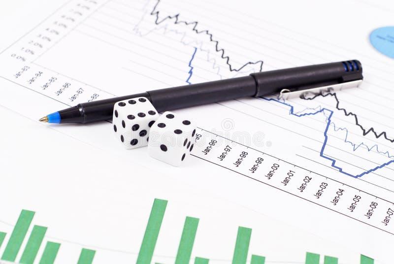 赌博市场股票 库存图片