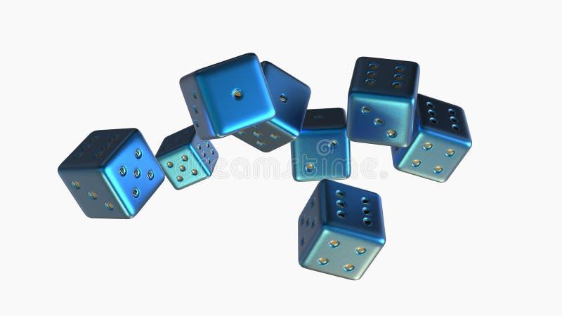 赌博把3d切成小方块 皇族释放例证