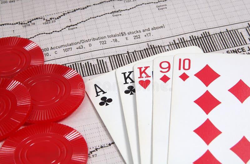 赌博投资 免版税库存图片