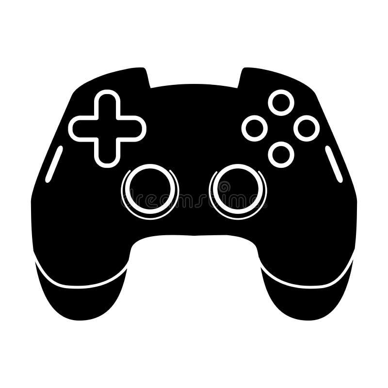 赌博控制杆纵的沟纹象 Esports设备 计算机gamepad 比赛设备 剪影标志 E 皇族释放例证