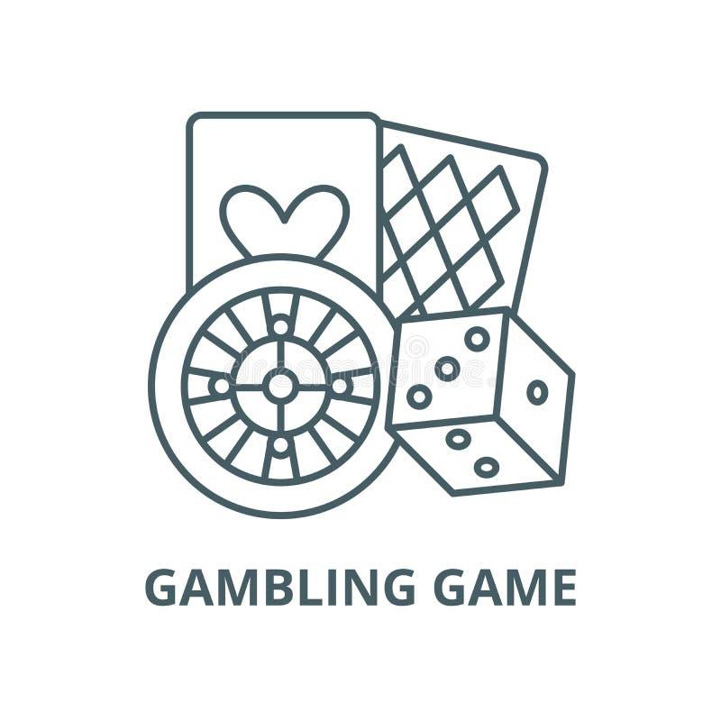赌博游戏传染媒介线象,线性概念,概述标志,标志 皇族释放例证