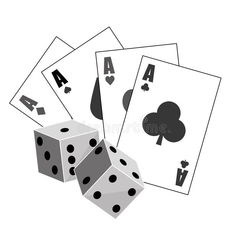 赌博游戏设计 库存例证