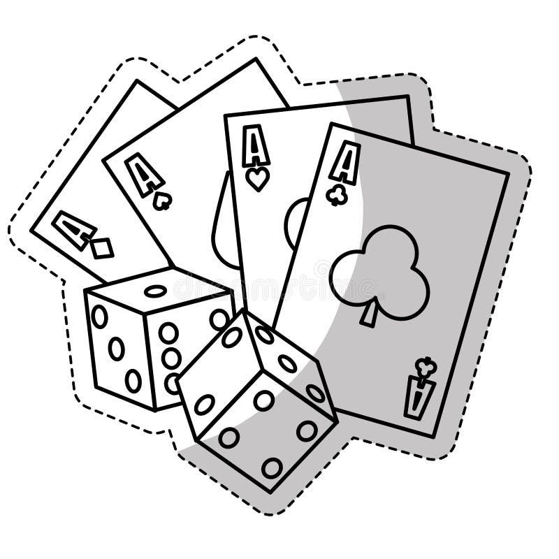 赌博游戏设计 向量例证