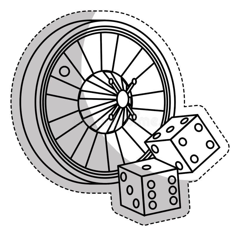 赌博游戏设计 皇族释放例证