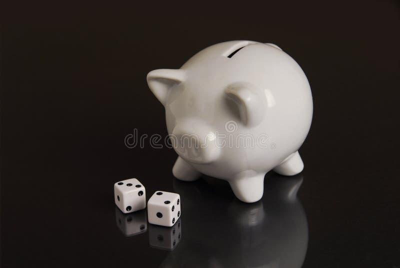 赌博的储蓄 免版税库存照片