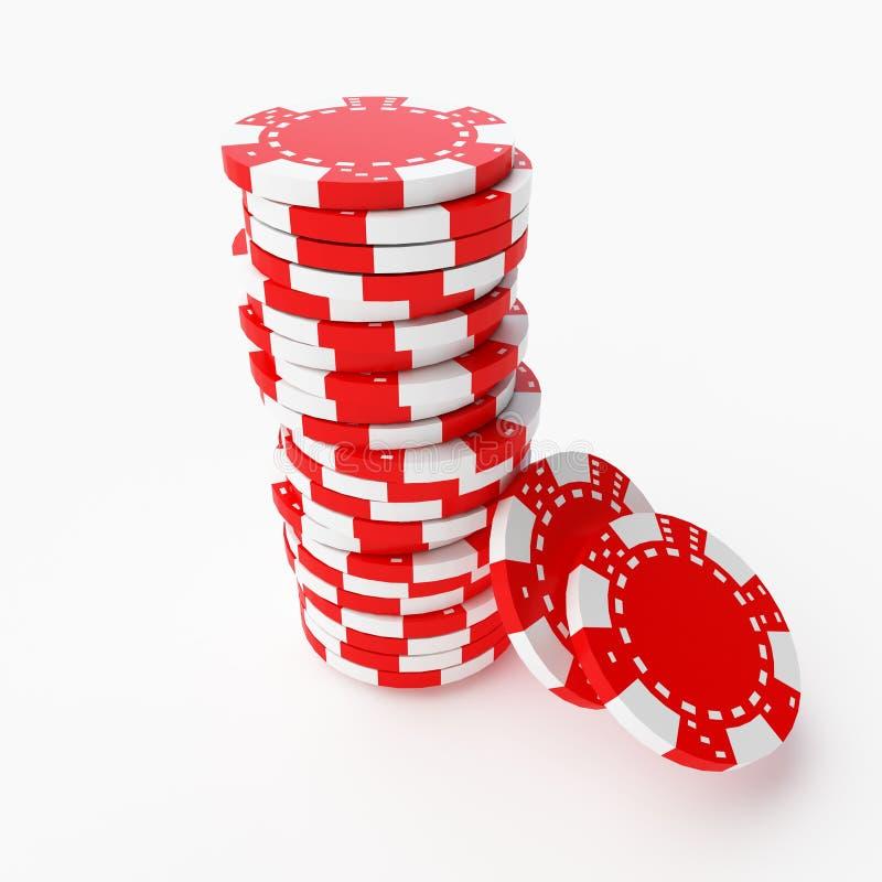 赌博的夹子 免版税库存图片