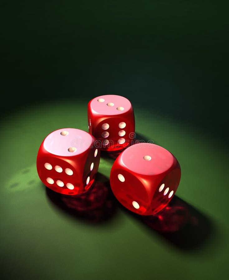 赌博的彀子 免版税库存图片