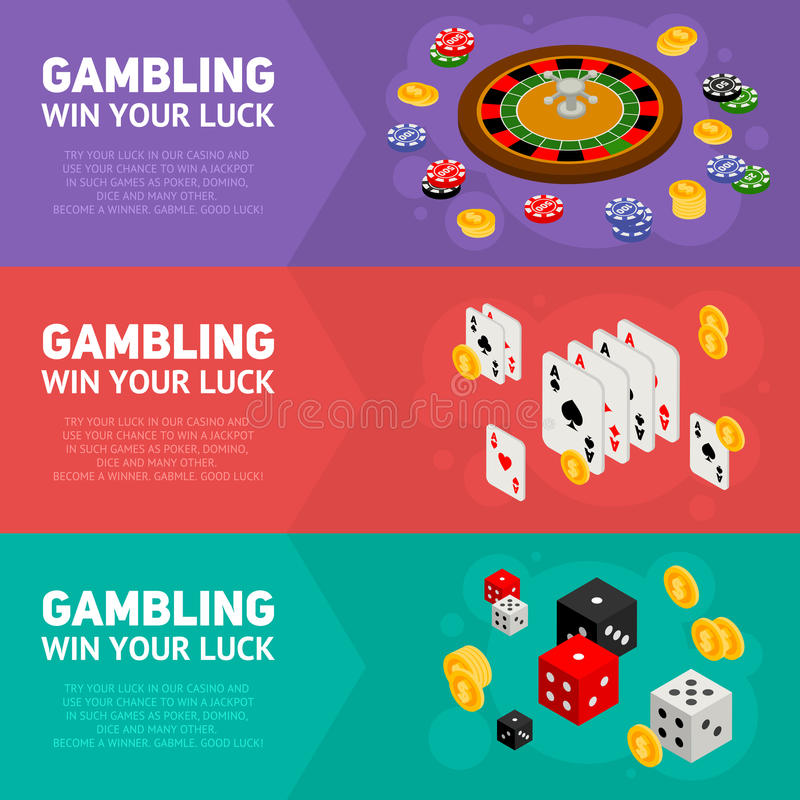 赌博的模板的赌博娱乐场等量设计观念 向量例证