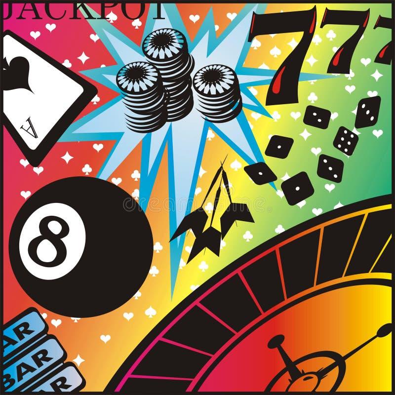 赌博的海报 库存图片