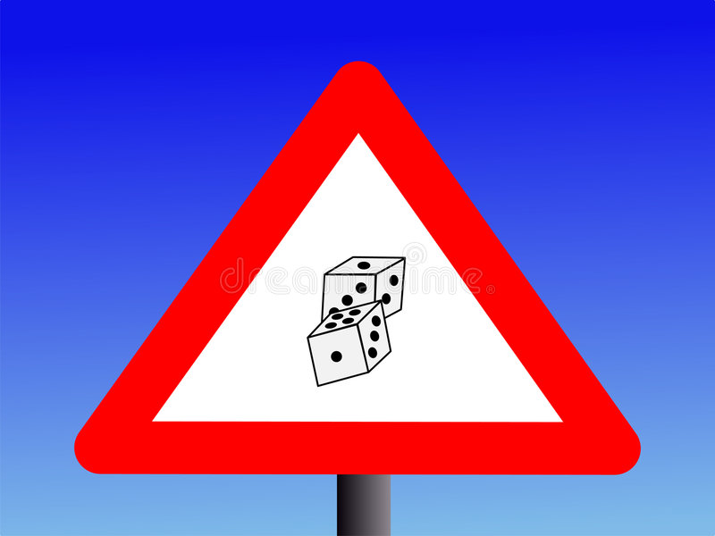 赌博的符号警告 库存例证