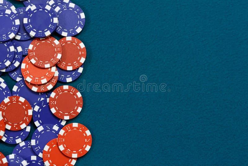 赌博的筹码背景 免版税图库摄影