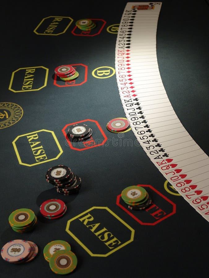赌博的筹码 库存照片
