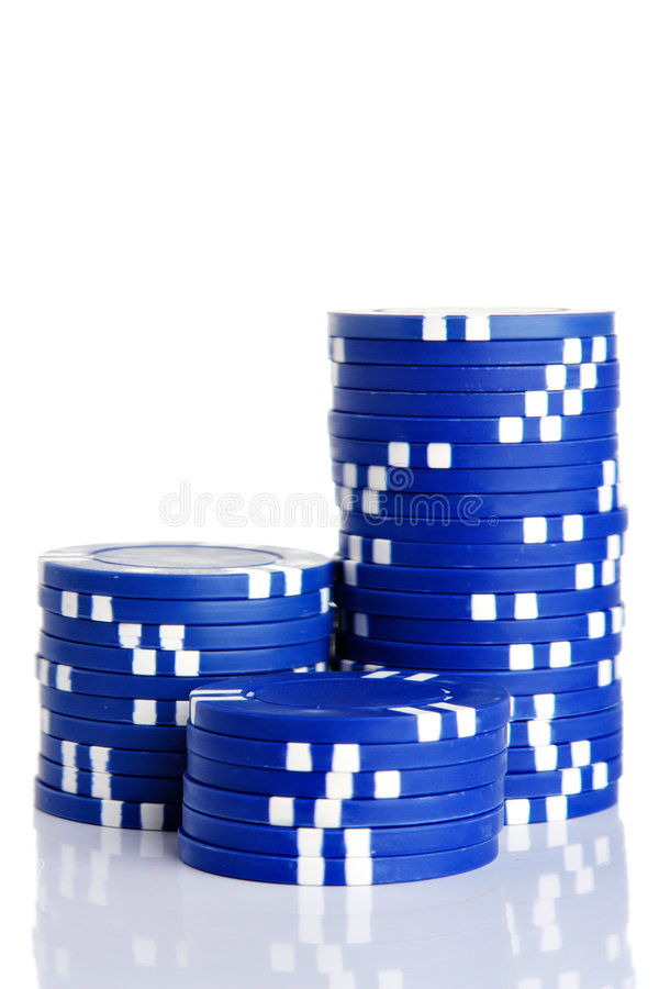 赌博的筹码 免版税图库摄影