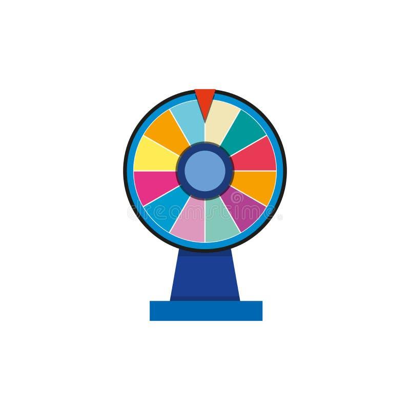 赌博的背景和抽奖胜利概念的轮盘赌3d时运轮子被隔绝的例证 比赛的轮子时运 库存例证