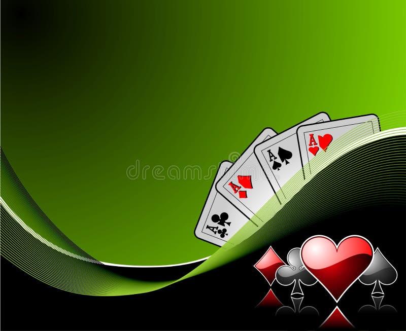 赌博的背景 向量例证