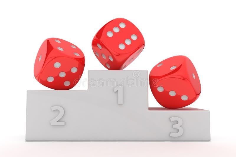 赌博的赢利地区 向量例证