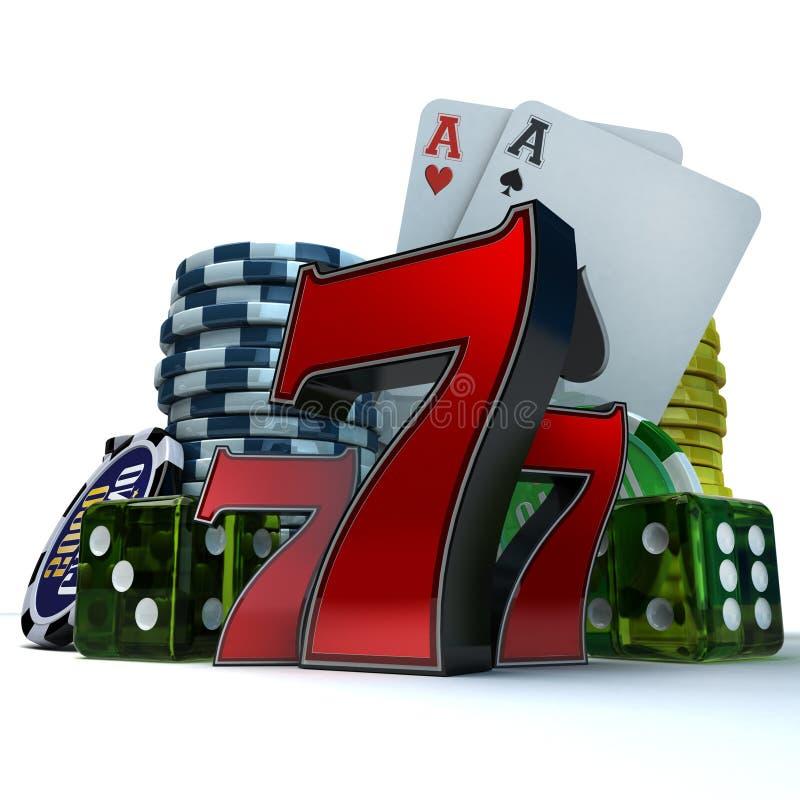 赌博的题材 库存例证