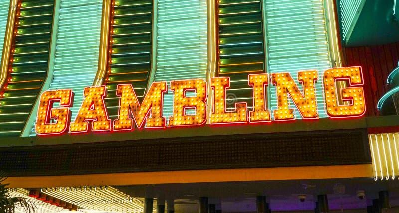 赌博签到拉斯维加斯-拉斯维加斯-内华达- 2017年4月23日 免版税图库摄影
