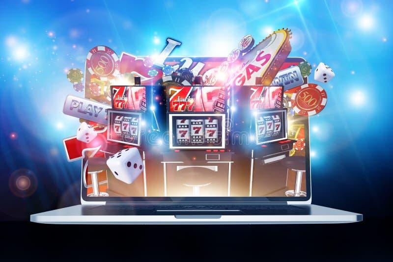 赌博网上的赌博娱乐场 向量例证