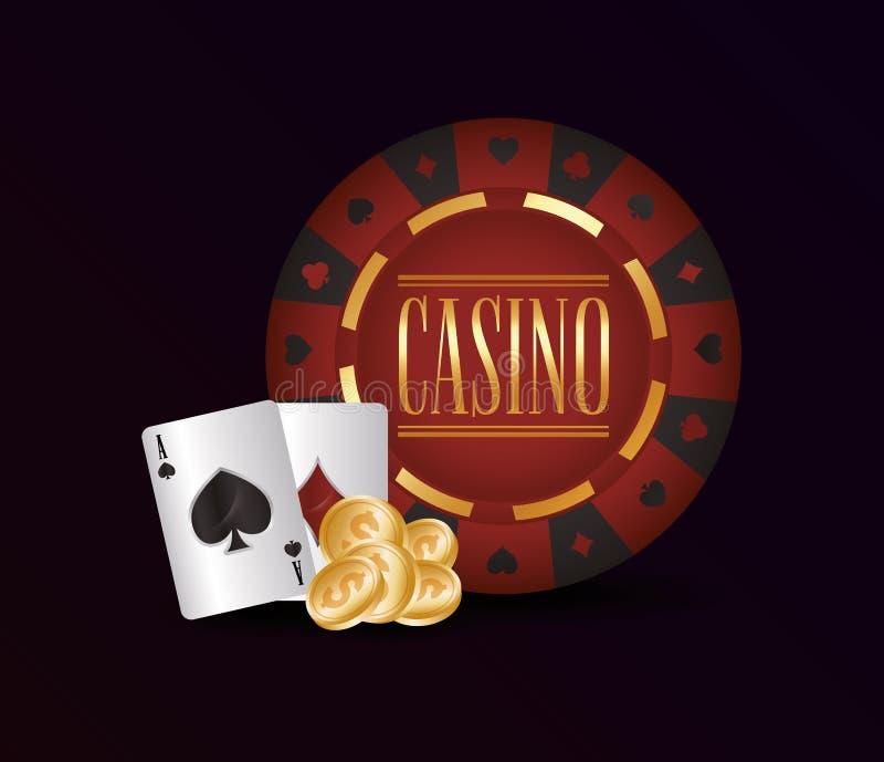 赌博赌博娱乐场概念 皇族释放例证