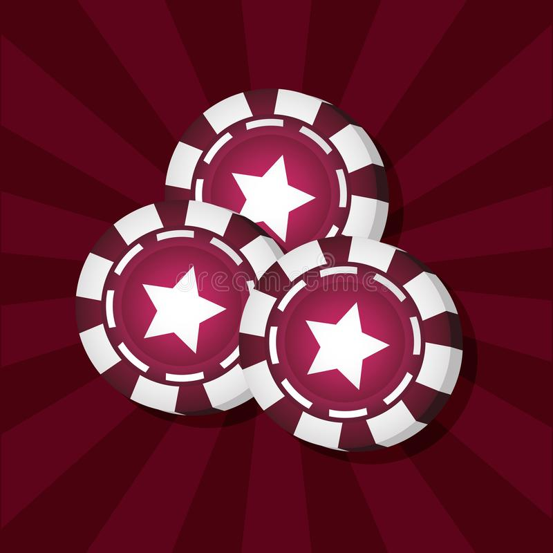 赌博赌博娱乐场概念 向量例证