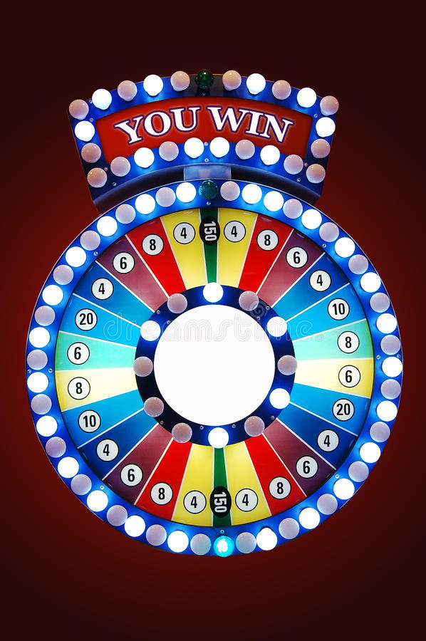 赌博轮子 库存照片