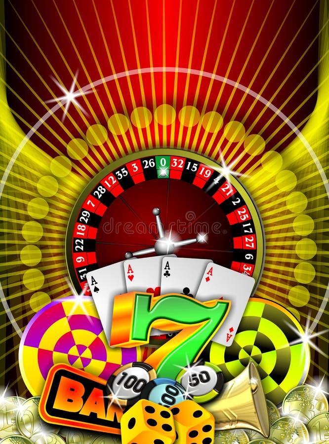 赌博 皇族释放例证