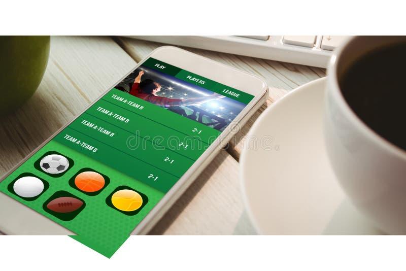 赌博app屏幕的综合图象 库存照片