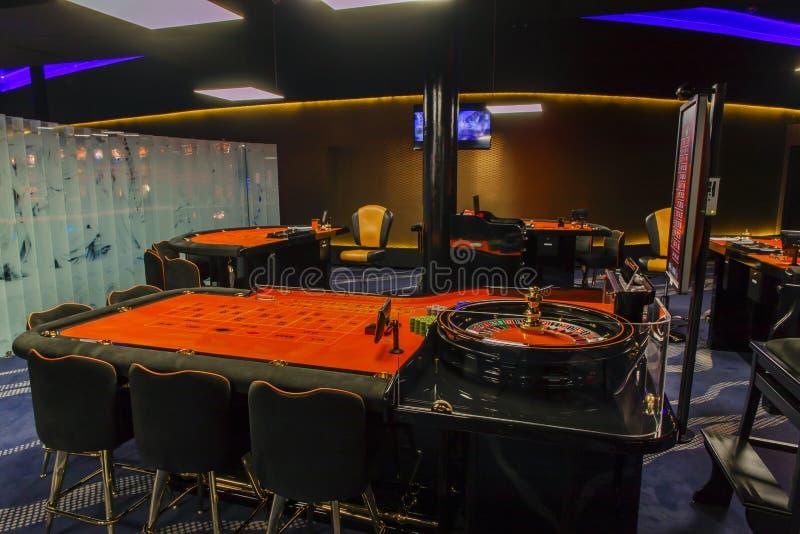 赌场轮盘赌桌 库存照片