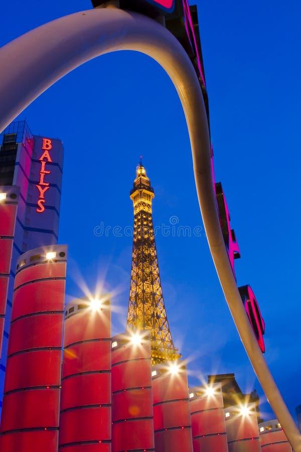 赌场酒店巴黎 免版税图库摄影