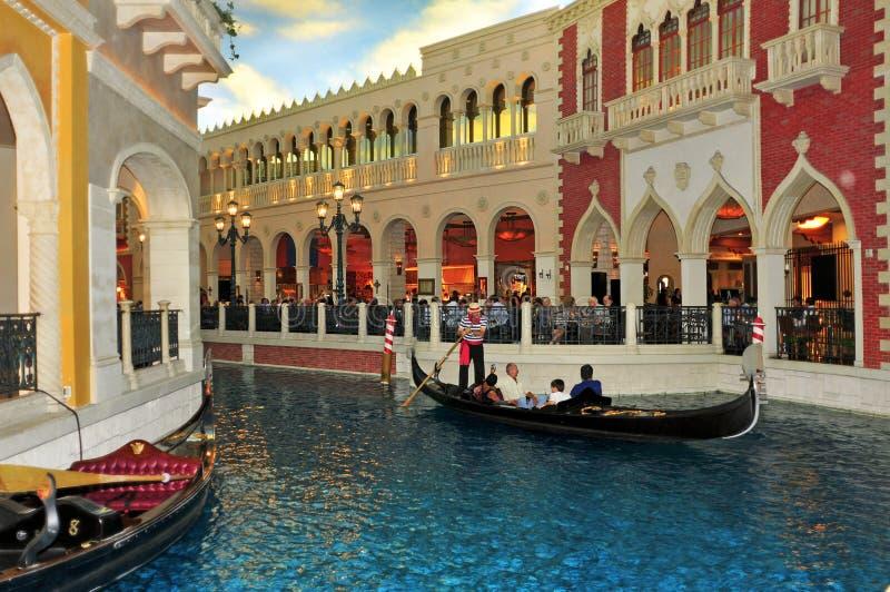 赌场酒店las手段威尼斯式的维加斯 免版税图库摄影