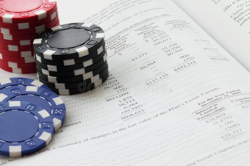 赌客投资者 库存照片