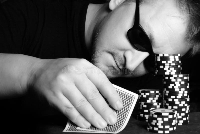 赌客 库存图片