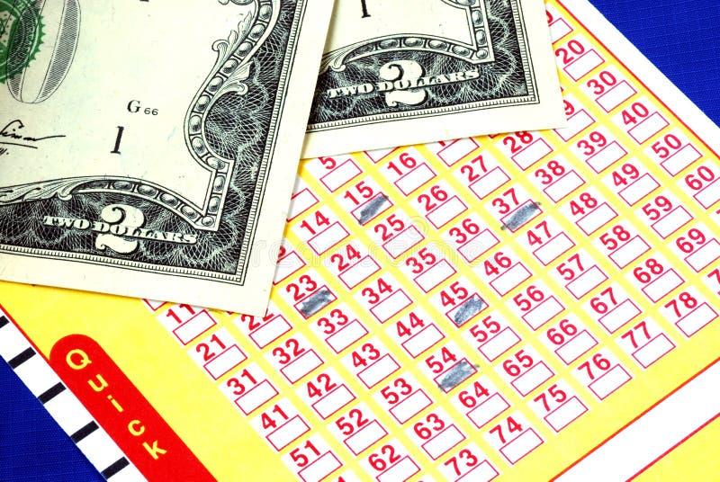 赌注美元少量抽奖券 免版税库存照片