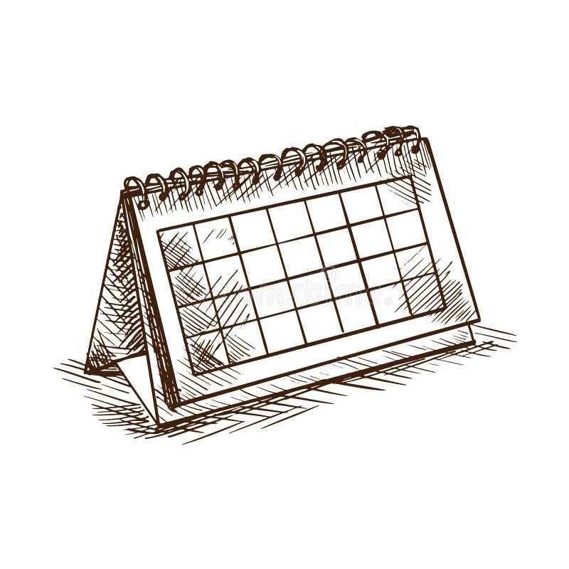赖买丹月宴餐  折叠的桌面日历与日期和假日 皇族释放例证