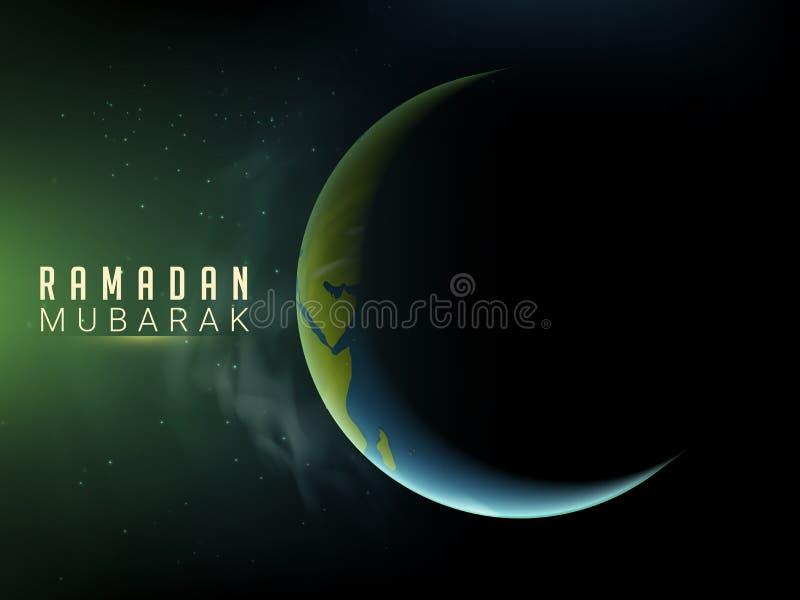赖买丹月庆祝的创造性的月亮 皇族释放例证