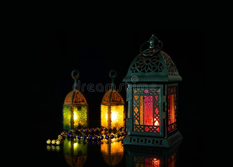 赖买丹月灯笼 图库摄影