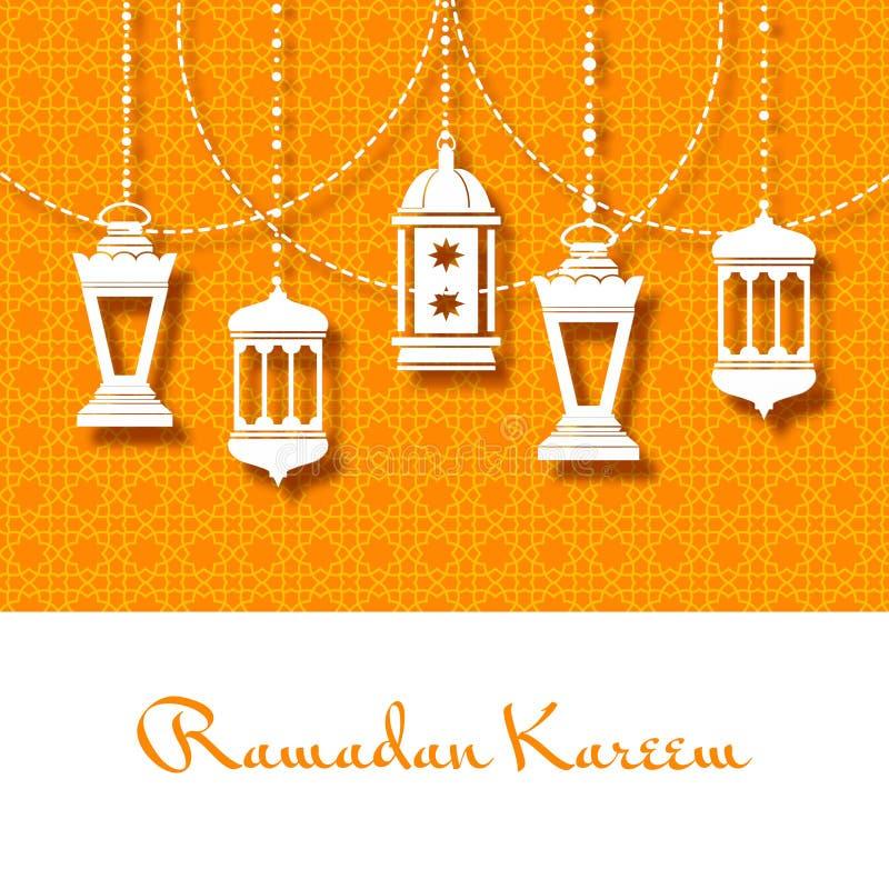 赖买丹月的Kareem阿拉伯灯笼背景