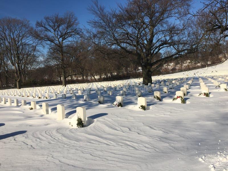 赛普里斯小山国家公墓布鲁克林 免版税库存照片