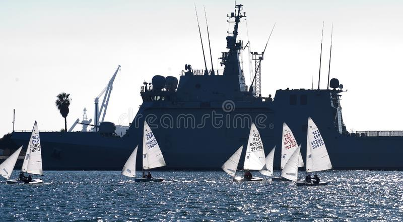 赛船会在卡塔赫钠 库存图片