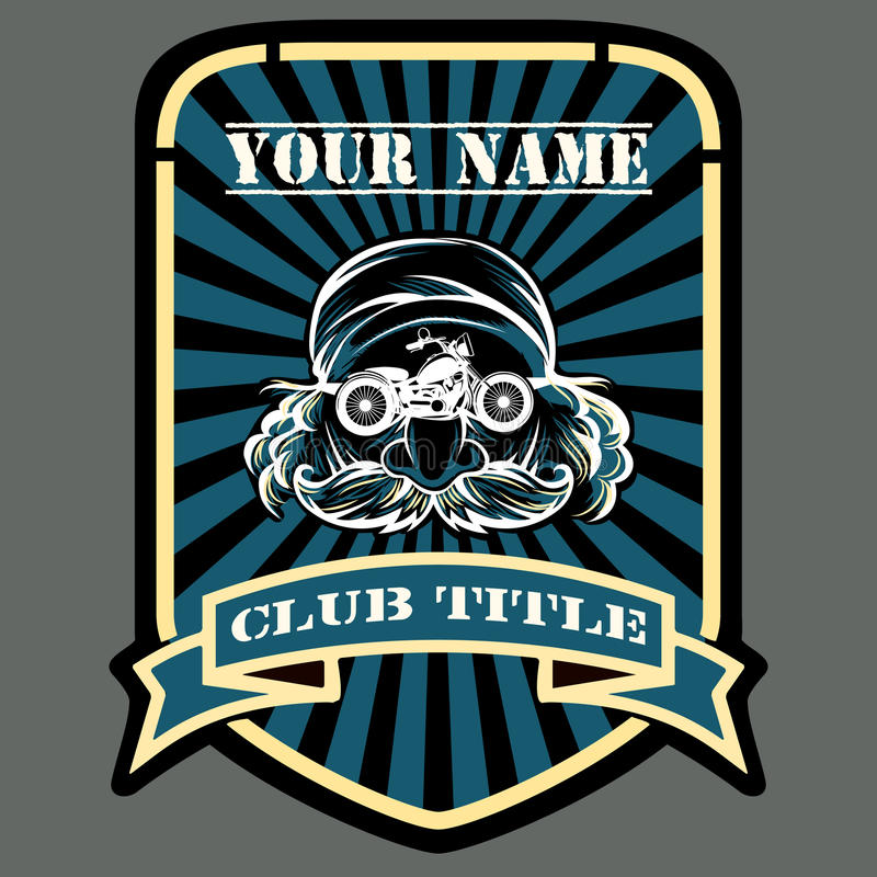 赛跑俱乐部象征的骑自行车的人或马达 皇族释放例证