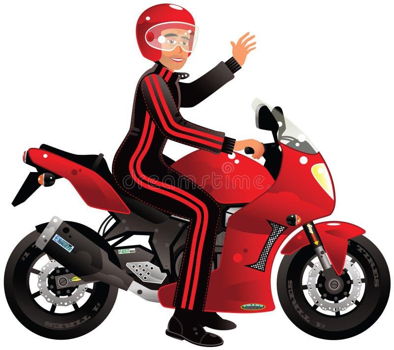 赛跑摩托车 皇族释放例证