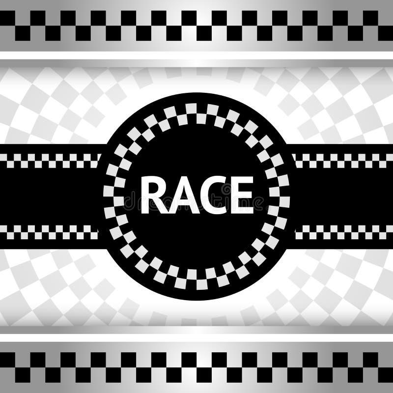 赛跑新的背景 向量例证