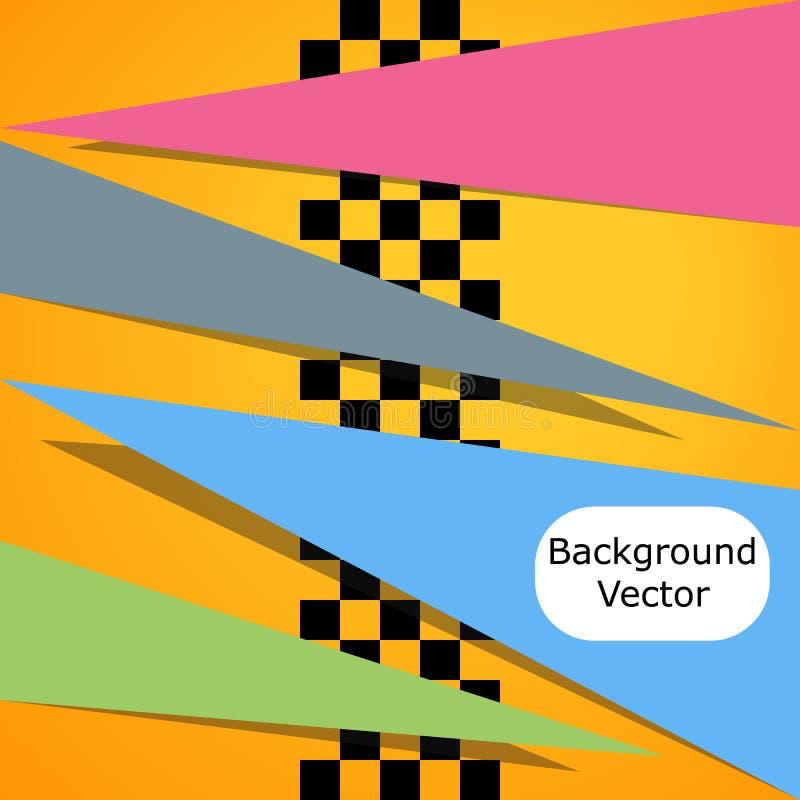 赛跑方形背景 导航在赛跑,与空间的棋样式的抽象您的文本的 设计例证写您 库存例证