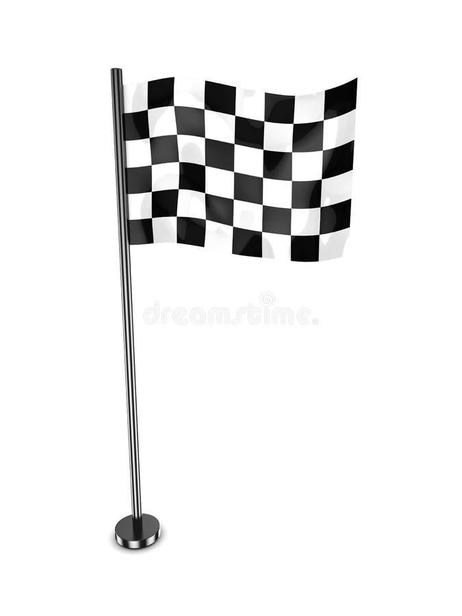 赛跑旗子 库存例证