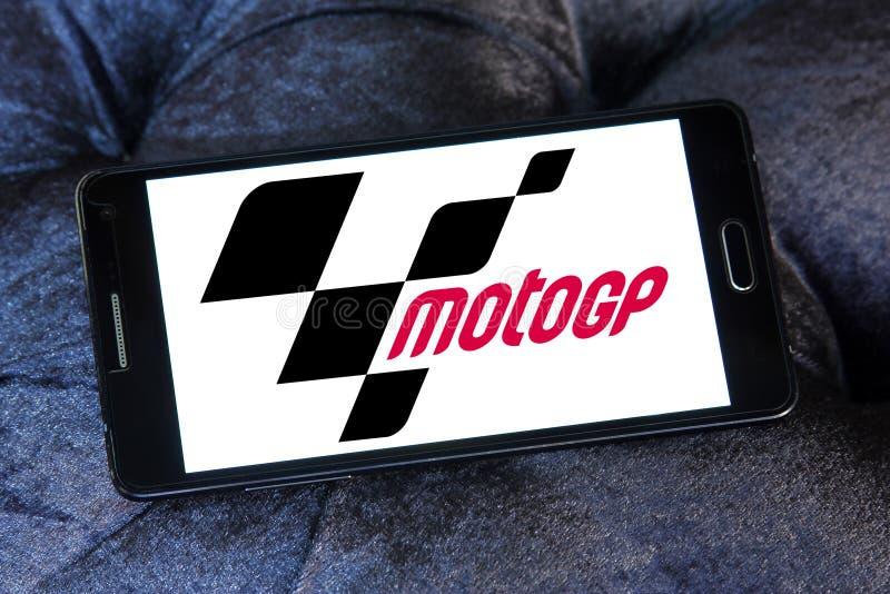 赛跑格兰披治的摩托车, MotoGP,商标 免版税图库摄影