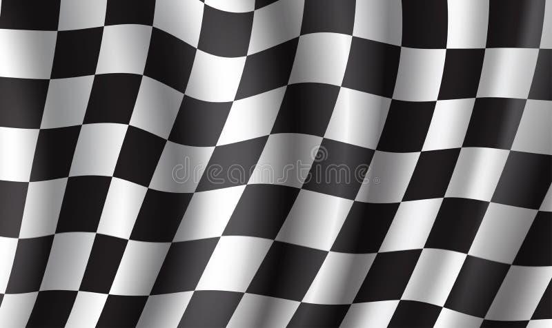 赛跑种族体育的旗子3d背景设计 库存例证