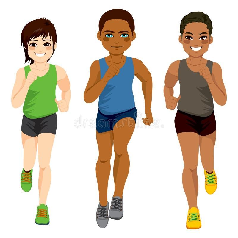 赛跑者人另外种族 皇族释放例证